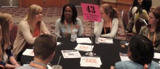 Grace Hopper Conference Student Opportunity Lab CRA-W Table