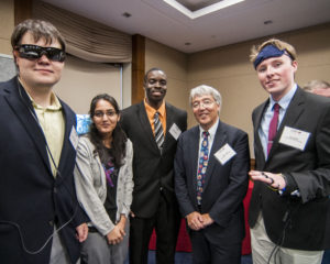 From left to right: Peter Zientra, Penn State; Nandhini Chandramoorthy, Penn State; Ikenna Okafor, Penn State; Jim Kurose, Assistant Director for CISE; and Gus Smith, Penn State.